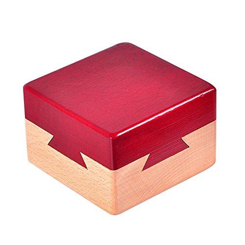 Zernnis Wood Magic Puzzle Brain Teaser Lock Box für Intelligence Games