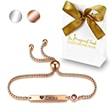 TMT® Personalised BirthstoneBracelets Gift for Birthday Friendship Mum Auntie Sister 18th 21th 30th 40th 50th 60th 16th 13th Her Women Girl Best Friend