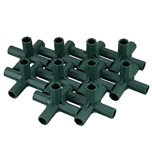 Gaoominy 20 Piezas 16 MM Piezas de Tubo de Acero Relleno JardineríA Juntas de Invernadero JardíN PláStico T Conectores Soporte Accesorios de Bricolaje