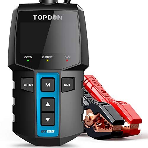 TOPDON Autobatterietester 12V Lasttester, BT100 100-2000 CCA Kfz-Generatorprüfer Digitaler Autobatterie-Tester Autobatterieanalysator Ladesystem Testgerät für PKW-LKW ATV SUV Boot