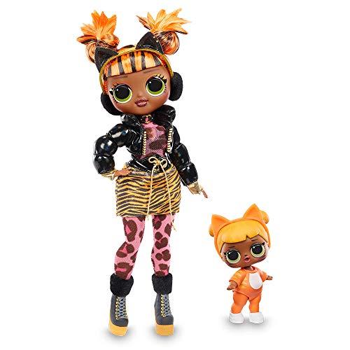 Giochi Preziosi- L.O.L Surprise OMG Winter Chill: Missy Meow y Baby Cat Muñeca y Miniatura, Multicolor (LLUE4000)
