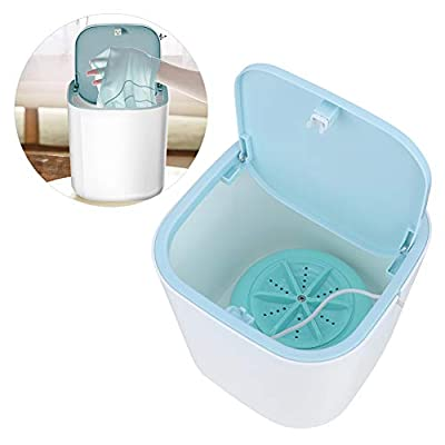 【𝐄𝐚𝐬𝐭𝐞𝐫 𝐏𝐫𝐨𝐦𝐨𝐭𝐢𝐨𝐧】 Portable Washer, Washing Machine,3.8L Tabletop USB Powered Underwear Laundry Washer for Home Travel Blue
