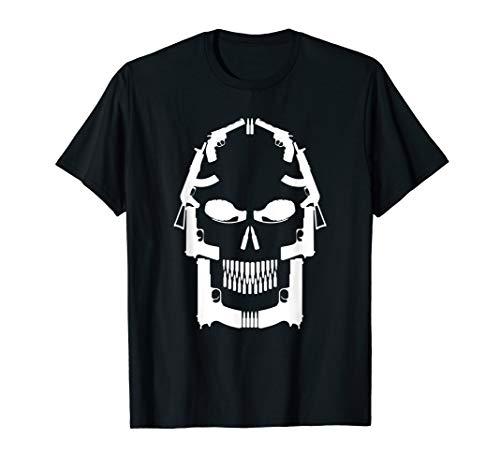 Totenkopf aus verschiedenen Waffen | Pistole Gewehr Waffe T-Shirt