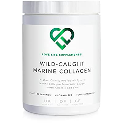 Wild-Caught Marine Collagen by LLS   Derived from North Atlantic Cod Skin   318g - 30 Servings   Unflavoured   Love Life Supplements - 'Clean, Effective, High Quality'