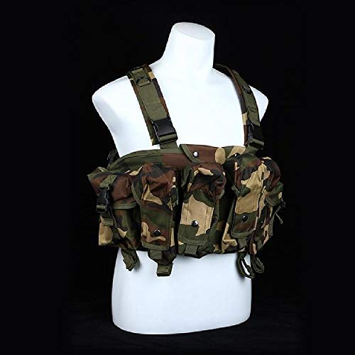 BGJ Tactical Vest Airsoft Ammo Chest Rig AK 47 Magazine Carrier Camouflage...