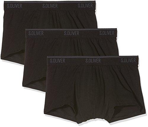 s.Oliver Herren 26.899.97.4243 Boxershorts, Schwarz (3X Black 12b2), Large (Herstellergröße: 6)