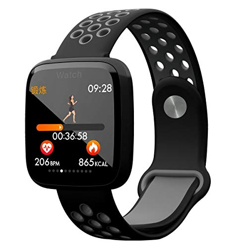Xanes F15 Waterproof Smart Watch Pedometer Heart Rate Blood Pressure Monitor Fitness Smart Bracelet Black Gray