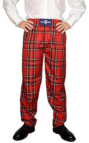 Schottische World Famous Royal Stewart Tartan Freizeit Donnelli Golfhose - Rot, S/M