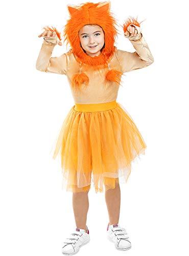 Funidelia | Disfraz de Leona para niña Talla 7-9 años ▶ Animales, Desierto - Multicolor