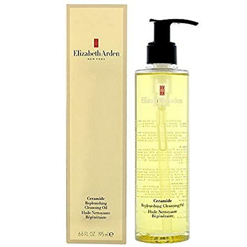 Elizabeth Arden Ceramide – Replenishing Cleansing Oil, 195 ml, pflegendes Ceramide Gesichtsöl zur Reinigung der Haut, effektiver Make-up Entferner, Tagespflege zur Skincare...