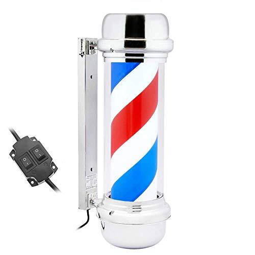 PrimeMatik - Poste de barbero Luminoso y Giratorio para peluquerías de 230 x 690 mm