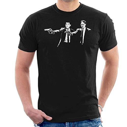 longring The Office US Dwight Michael Banksy Pulp Fiction Men's T-Shirt