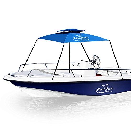 EasyGoProducts EGP-UMB-018-1 AquaBrella – The Portable Bimini Boat Top Cover Canopy. Large Size X 6 Foot, Blue