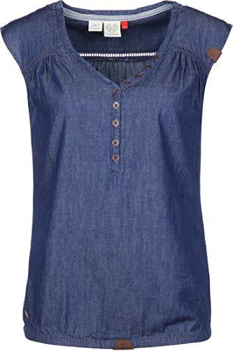 Ragwear Bluse Damen Salty Denim 2011-10015 Blau Blue 2040, Größe:L
