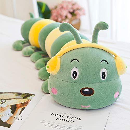 weiqiang Große Plüschtier Raupe Puppe Kissen Langen Streifen Kissen Puppe süße Puppe Bett Mädchen männlich 80 cm grün
