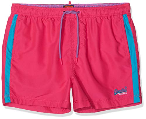 Superdry Men's Beach Volley Swimshorts, Pink, M