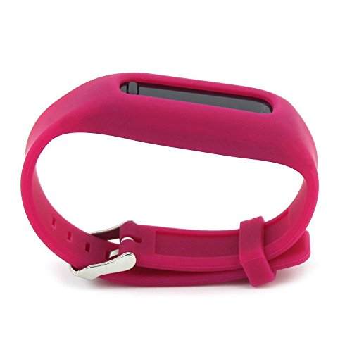snowcinda Silikon Armband Colorful Fitbit One Ersatz Bands mit Schnalle Design, burgunderfarben