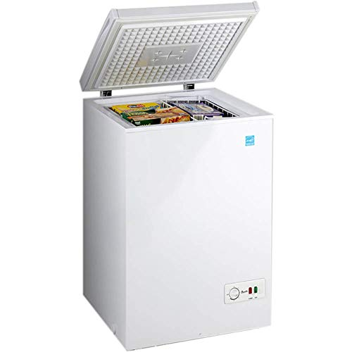 Avanti CF350M0W 22 Inch Freestanding Chest Compact Freezer with 3.5 cu. ft. Capacity, White Door, in White