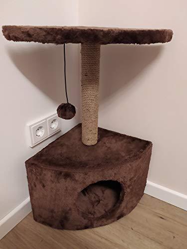 GoodView - Tiragraffi in sisal, albero per gatti, con diversi ripiani e aperture, 60 cm