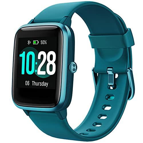 Jogfit Smartwatch Reloj Inteligente Nadando Pulsómetro Monitor de Sueño Impermeable Pulsera Actividad Caloría Podómetro, Fitness Reloj Deportivo Correr Cronómetro para Hombre Mujer Niños Android iOS