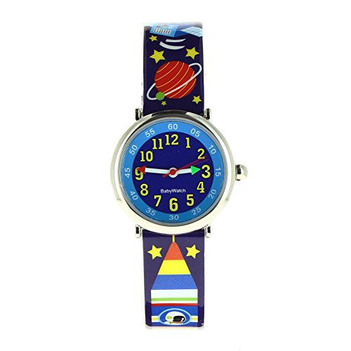 Baby Watch–606108–Raum–Zeigt Jungen–Quartz Pädagogische–Zifferblatt Blau Armband Kunststoff Mehrfarbig