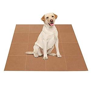Dog Anti-Slip Traction Carpet Treads Mats – 16 Sheets Self Adhesive Washable Reusable Removable Pet Soft Rugs for Puppy Older Dog – Stop Dog Slipping and Sliding on Hardwood Floor/Tile (Khaki)