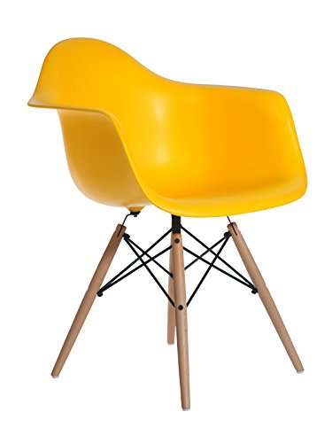 Aryana Home Eames replica stoel, 59 x 62 x 82,50 cm 59x62x82.5 cm bruin