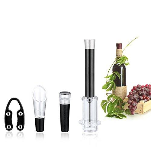 Deik Cavatappi Elettrico Apribottiglie Elettronico Professionale per Vino Bottle Opener con Free Foil Cutter Removibile