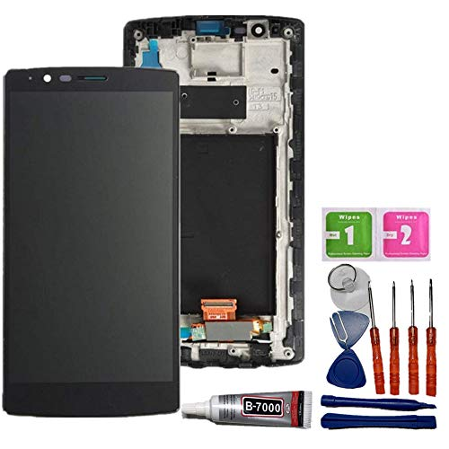 Glass LCD Display Touch Screen Digitizer Assembly Parts + Frame for LG G4 H810 H811 H815 VS986 LS991 F500L Screen Replacement