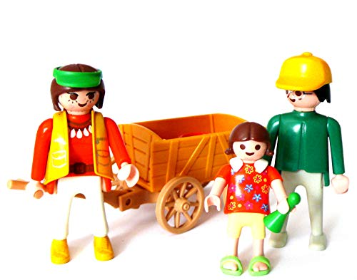 playmobil ® - Vater Onkel Tochter Kind mit Bollerwagen
