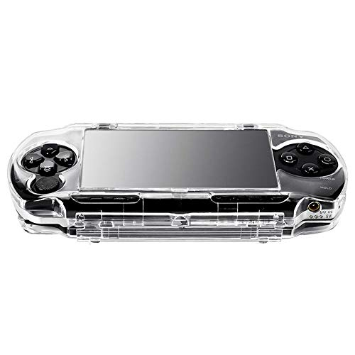 OSTENT Protetor transparente de cristal para viagem com capa rígida compatível com console de jogos Sony PSP 1000