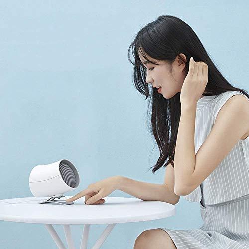 Kotee Ventilador eléctrico Personalidad escritorio del USB del ventilador pequeño ventilador de refrigeración 2 velocidades y un diseño único for Office Student Home Recorrido al aire libre Silencio v