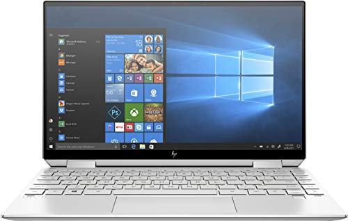 HP Spectre x360 13-aw0030ng (13,3 Zoll / UHD Touch) Convertible (Intel Core i7-1065G7, 16GB DDR4 RAM, 1TB SSD, 32GB Intel Optane, Intel Iris Plus Grafik, Win10) silber inkl. Pen + USB-C Hub