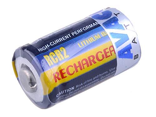 AVACOM Wiederaufladbarere Photo-Batterie CR2, CR-2 Li-Fe 3V 250mAh 0.8Wh, Kamera-Akkus