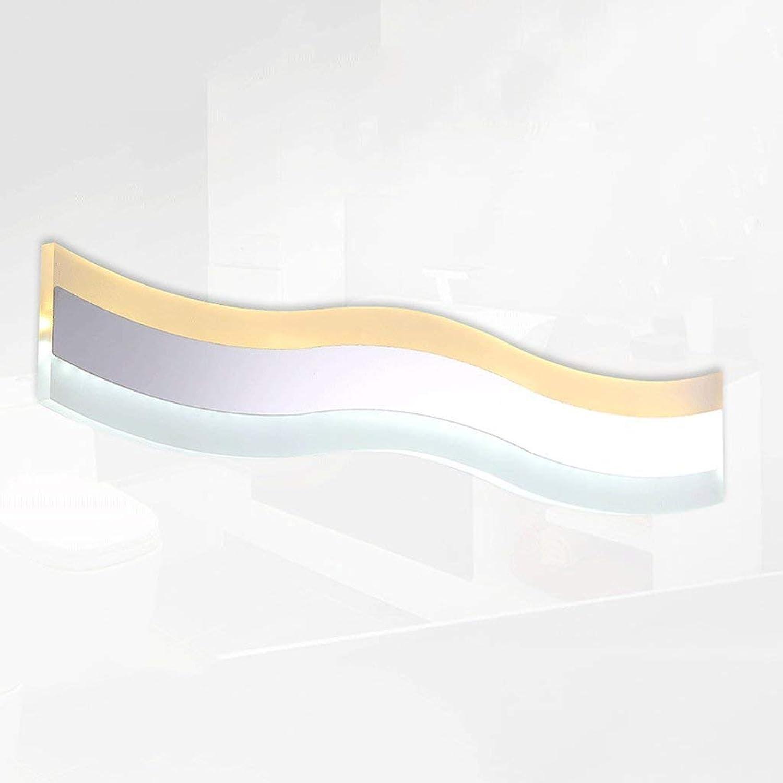 ZTMN Pride S LED Edelstahlspiegelleuchte minimalistische Badspiegelleuchte Lampe Energieeffizienz A + (Gre  18w50cm)