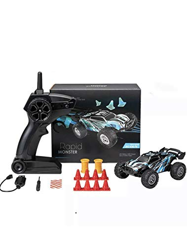 Remote Control Mini Truck ,2.4G Rechargeable Hi Speed 20Km/h RC Car ,Drift Car Off Road ,Indoor,Move Forward,Back Turn ,Left &Right With Cool Lights For Night Racing,Control Dist 30M .