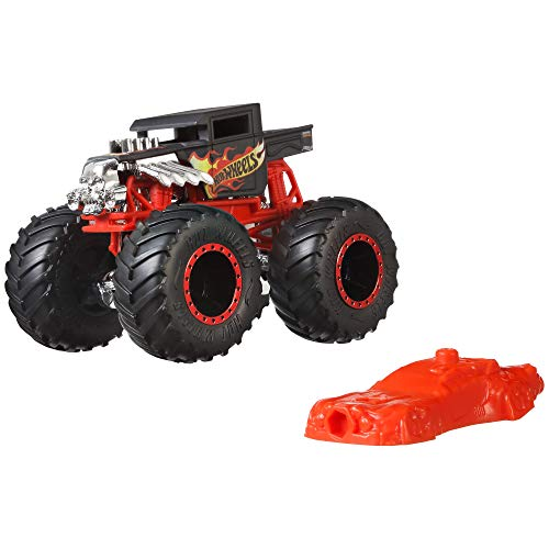Hot Wheels - Monster Trucks Vehículo 1:64 agitador de huesos, coches