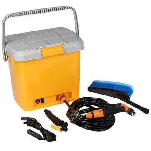 DEV ENTERPRISES Portable 12V DC Electric High Pressure Automatic Car/Bike Washer Water Spray Gun with 16 Liter Water Tank Perfect for Washing Vehicle