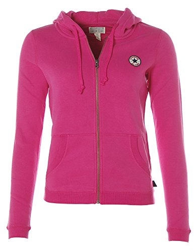 Converse Damen Sweatjacke Sweat Jacke Kapuze Hooded Zipper Jacket (S (34), Rosa)