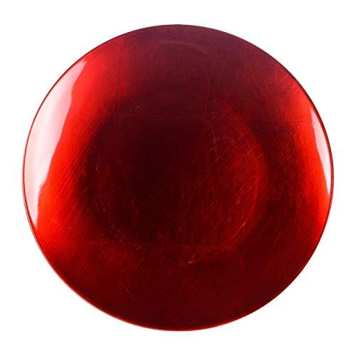 Table Passion - Sous-assiette rosso 33 cm (lot de 2)