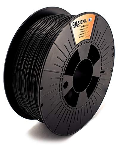 Basicfil 175PLA1000BLACK, Filamento per Stampante 3D, 1, 1 kg, Nero