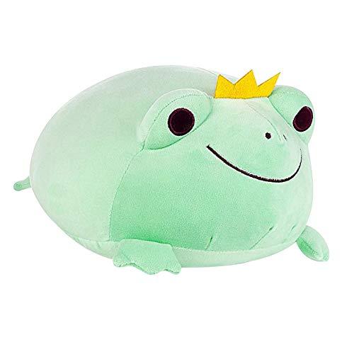 Kuscheltier Spielzeug Frosch Plüsch Stretchy Kissen Geschenk, Stretchy Plüsch Frosch Entzückende Kuscheltier Frosch mit Krone Weich Frosch Plüsch Kissen, Kreative Dekoration Kuscheliges Geschenk für