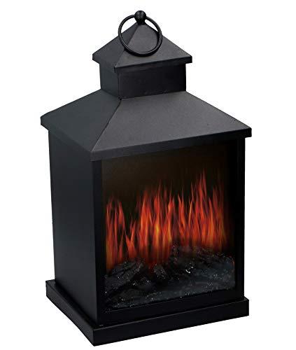 Grundig Farol LED con efecto de chimenea, 37 cm, decoración para el hogar, 20 x 37 x 16 cm