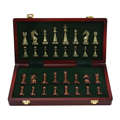 KENANLAN Schachspiel aus Holz handgefertigt, Hochwertiges Schachbrett aus Echtholz, Wooden Chess Set klappbar 30x30 mit Aufbewahrungsbox, Chess Board Set mit Schachfiguren groß für Kinder Erwachsene