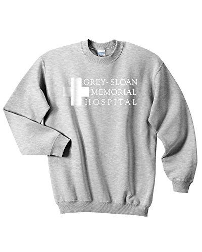 Mars NY Unisex Grey Sloan Memorial Hospital Sweatshirt (Grey, Large)