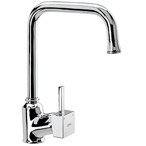 Cera Brass Quartet Single Lever Fittings Single Lever Sink Mixer Table Mounted with 337mm/13.5-Inch Long Swivel Spout and 450mm...