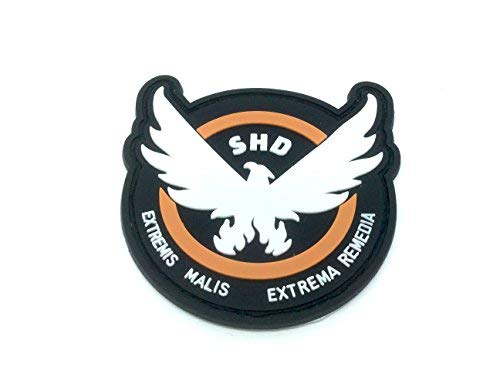 The Division SHD Extremis Malis Extrema Remedia Flügel PVC Airsoft Paintball Klettverschluss-Flecken Kader Patch
