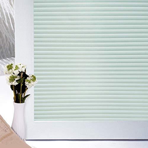 N / A Selbstklebende Glasfolienjalousien Muster PET-Datenschutz Innendekoration Schlafzimmer Bad Fensterfolie Küche Wohnzimmer Glasdekoration Folie A1350x200cm