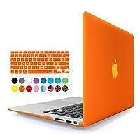 E-BOX(TM)A1278保護スリーブ 2 in 1ソフトタッチシリーズプラスチック製ハードシェルカバーケースキーボードカバーApple Macbook Pro 13''用ノートブックA1278 (Pro 13'', Orange)