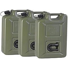 hünersdorff 802011 3er Set Kraftstoff-Kanister